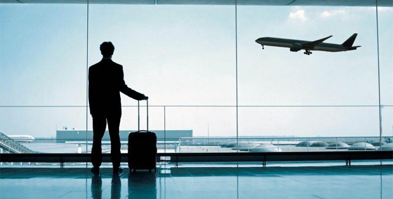 man-vliegveld